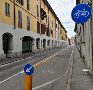 La ciclabile di via San Rainaldo